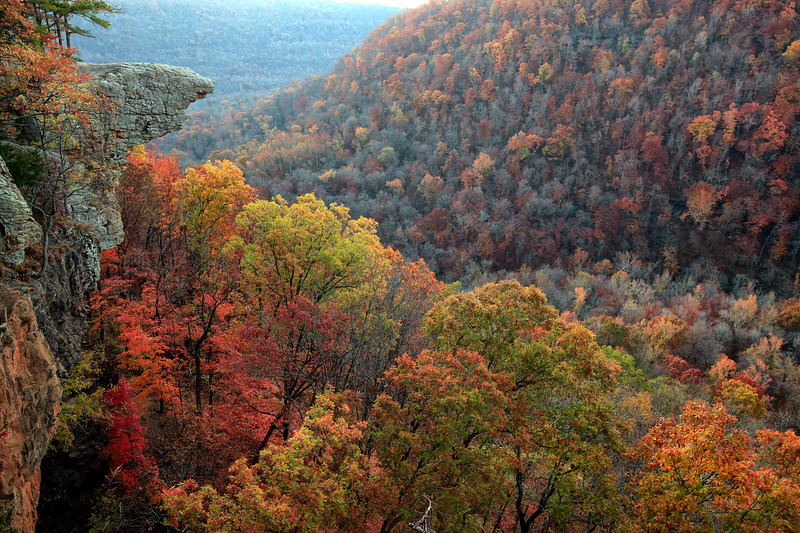 Hawksbill Craig - Just Before Sunrise - Ozarks of Arkansas - Fall 2014
