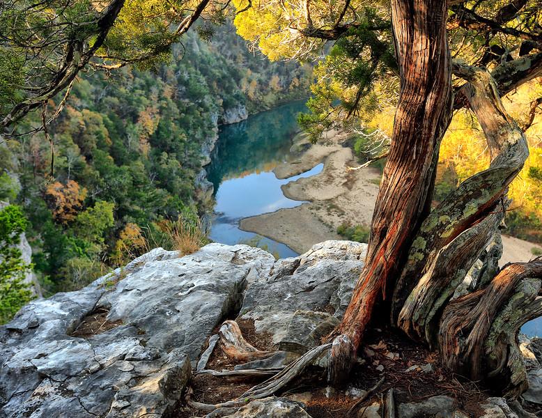 Painted Sunrise - Peter Cave Bluff - Buffalo National River - Arkansas - Fall 2016