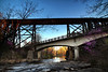 Dueling Bridges - Spring in the Ozarks - Yellville, Arkansas - April 15, 2014