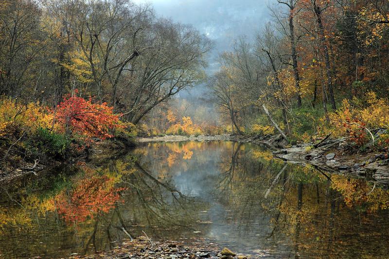 Autumn Reflections - Kyles Landing - Buffalo National River - Arkansas - Nov 2017