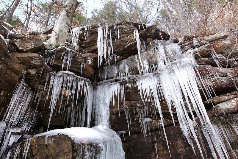 Ice Castle - In the Valley of the Crag - Buffalo National River - Winter 2014