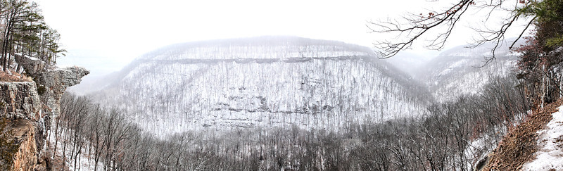 Hawksbill Crag in the Snow - Buffalo National River - Ponca, Arkansas - Winter 2014