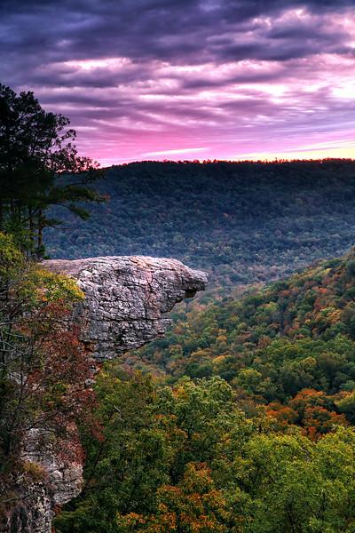 Sunrise Hawksbill Crag - Fall 2014 - Buffalo National River Area