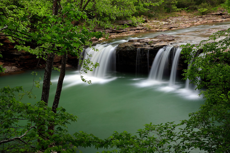 Falling Water Falls in Spring - Richland Creek Area - Ozarks