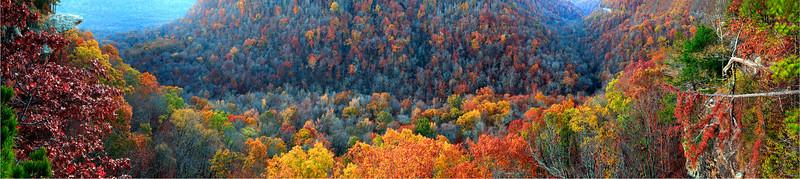 Hawksbill Crag - 20 photo Panoramic - Arkansas
