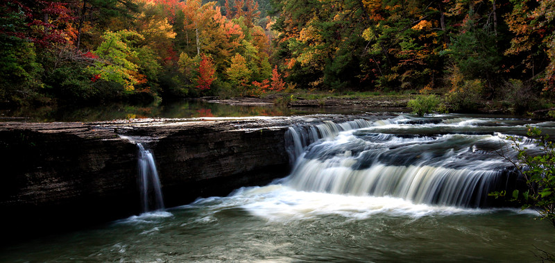 Hawcreek Falls in the Fall - Ozark National Forest
