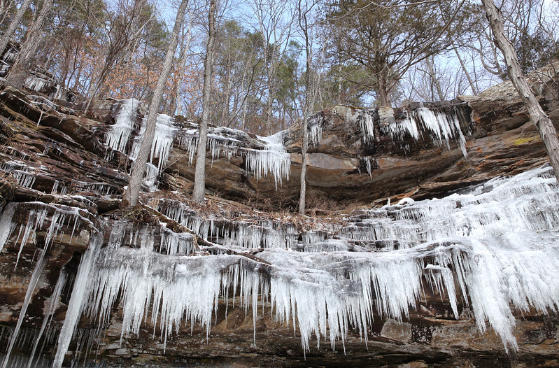 Haley Falls in Winter - Upper Buffalo Area - Ozarks