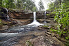 White Oak Creek Falls with Dogwood, Ozark National Forest - Arkansas April 13, 2020
