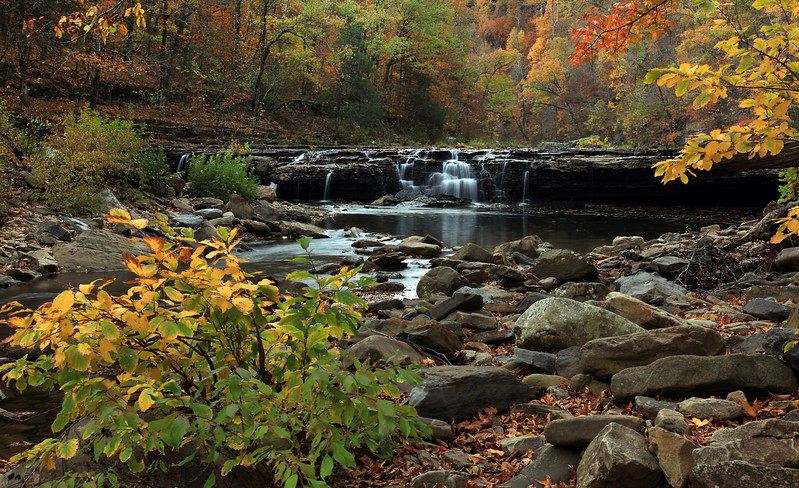 Richland Waterfall  - Richland Creek Area - Ozarks