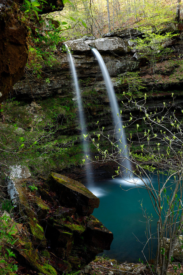 Compton Double Falls - Spring 2013 - Buffalo National River Area- Arkansas