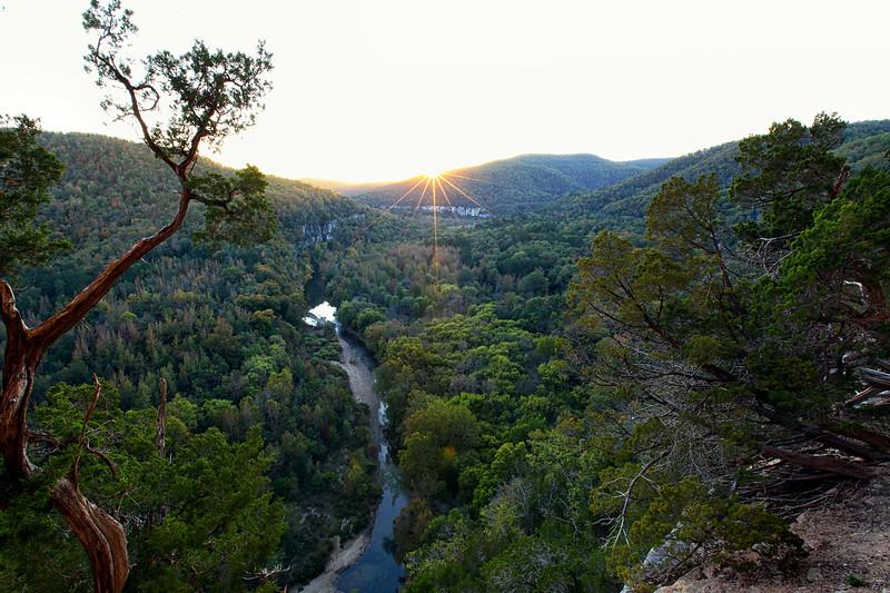 Sunset - Big Bluff on the Goat Trail - Buffalo Natioanal River - Ozarks