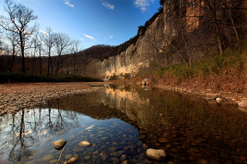 WINTER REFLECTIONS - BUFFALO RIVER