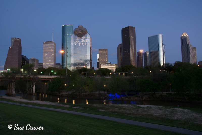 Downtown Houston at Dusk