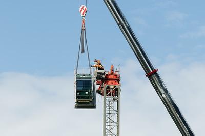 Construction crane removal. Update ed315. Gosford. April 9, 2019.