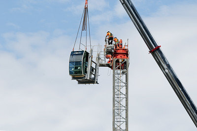 Construction crane removal. Update ed316. Gosford. April 9, 2019.