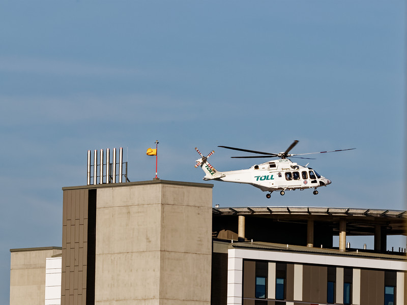 Gosford Hospital New Wing Helipad. December 28, 2018.