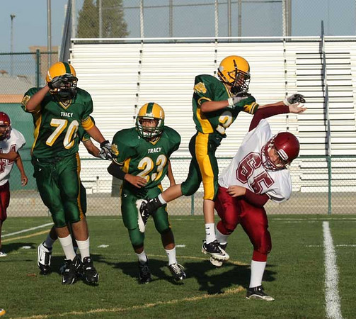freshman defense vs Los Banos