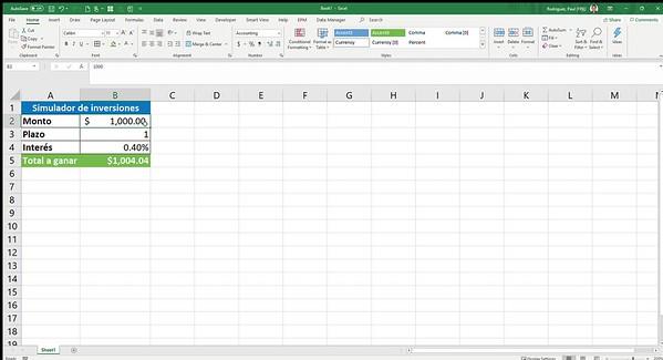 Book1 - Excel