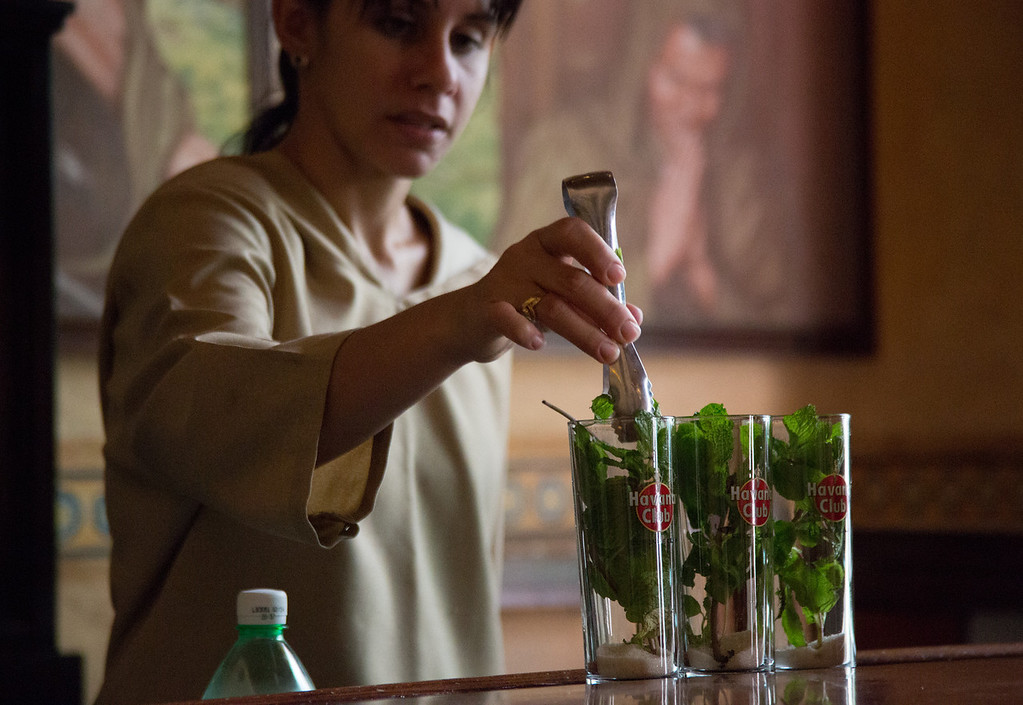 The mojitos at the Hotel Ambos Mundos in Havana are considered among the best in the world. Photo by Sarah Ganzhorn / BU News Service
