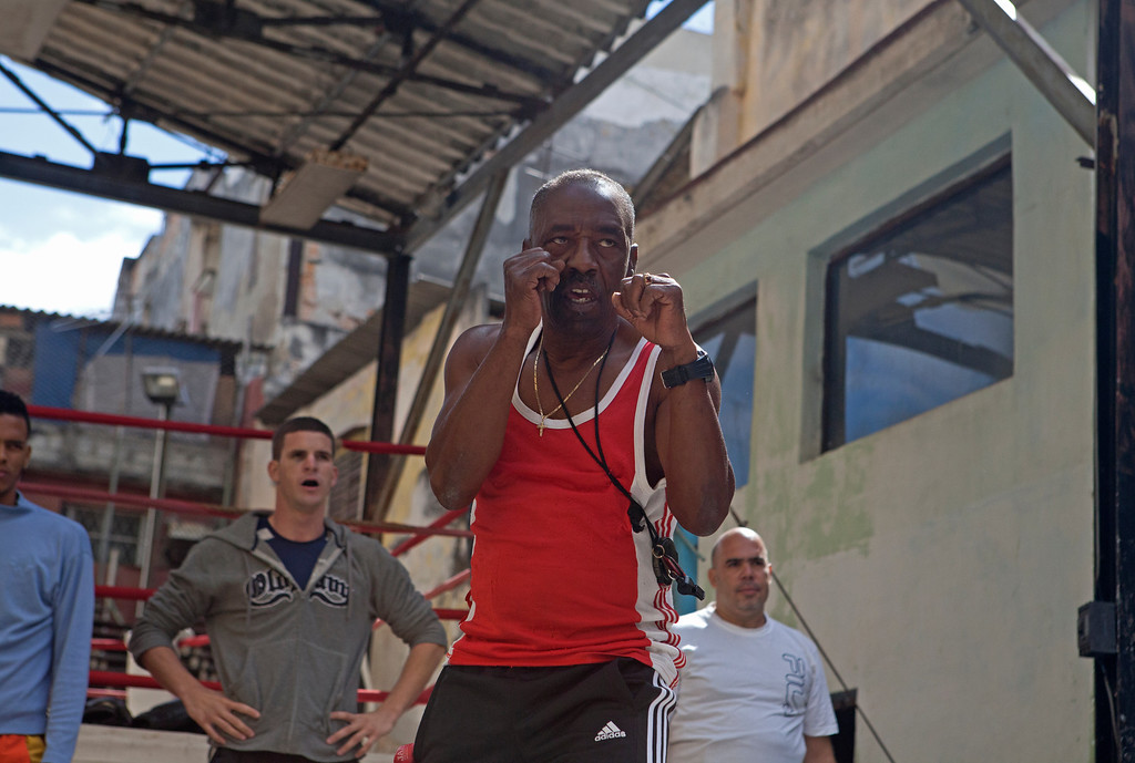March 26, 2013- A boxing class practices at the Rafael Trejo Boxing Gym in Old Havana, Cuba. Photo by Melanie Rieders.