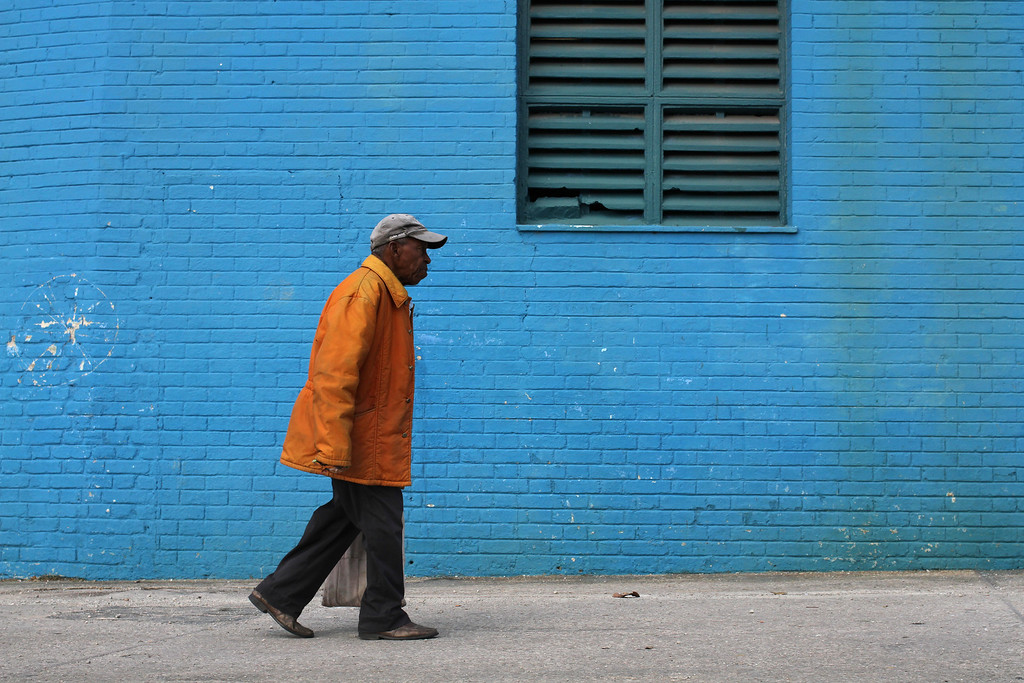 A man walks past the Stadio Latinamerico, Havana's largest baseball stadium, prior to a crucial baseball game on March 28, 2013. (Photo by: Michael Cummo)