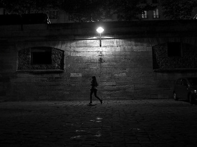 woman along seine