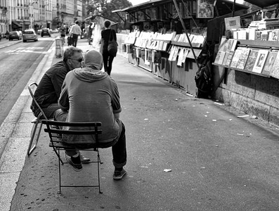 Book dealers along Seine