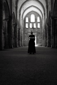 Priest at Fontenay Abbey