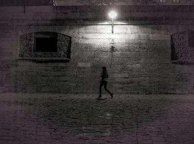 woman along seine