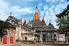 """Ananda Temple also called """"the Westminster Abbey of Burma, built in 1105. The temple's layout is in a cruciform with several terraces leading to a small pagoda at the top"""