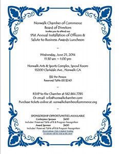 NORWALK CHAMBER OF COMMERCE  6-25-2014