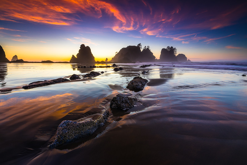 Point of Arches at Shi Shi Beach - Washington
