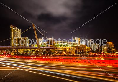 San Diego Petco Park at night
