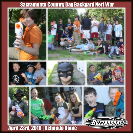 APRIL 23RD, 2016 | Sacramento Country Day Backyard Nerf Battle