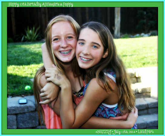 JULY 12TH, 2014: ANNEMARIE & POPPY'S 13TH BIRTHDAY DANCE PARTY