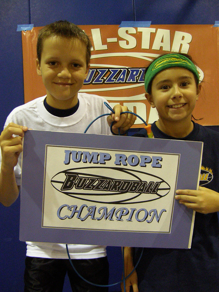 4TH-8TH GRADE CHAMPS: SIXERS ' TANNER SYFTESTAD (152 jumps) & NICOLE FREUND (148 jumps) -- 300 TOTAL