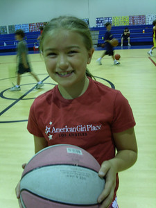 OUT OF 42 CAMPERS, THERE IS ONLY ONE GIRL. HERE IS CAMILLE REPRESENTING THE GIRLS WITH A SMILE