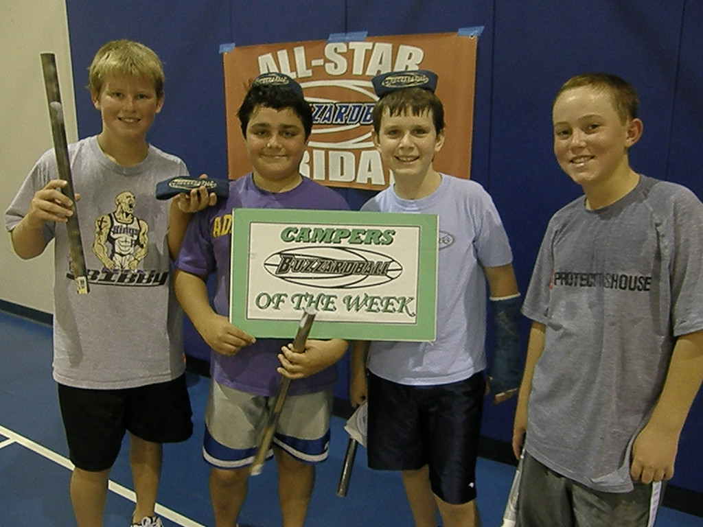 MVP'S LUKE MOORE AND BEN GOURLEY ALONG WITH CAMPERS OF THE WEEK RYAN MILLER AND STEVIE GRIGGS