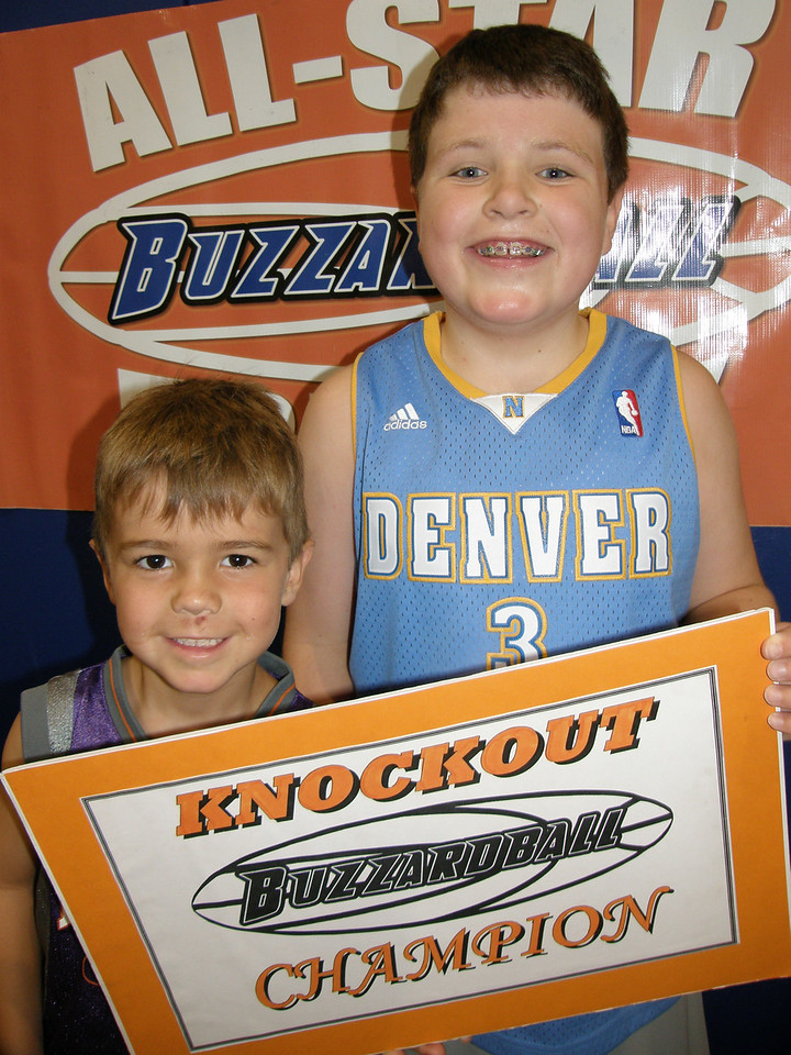 ANDREW SUTHERLAND (K-3) & MATTIE THOMAS (4TH-7TH) (SPURS) (Note: This may have been the turning point for the SPURS en route to their ALL-STAR THURSDAY title.