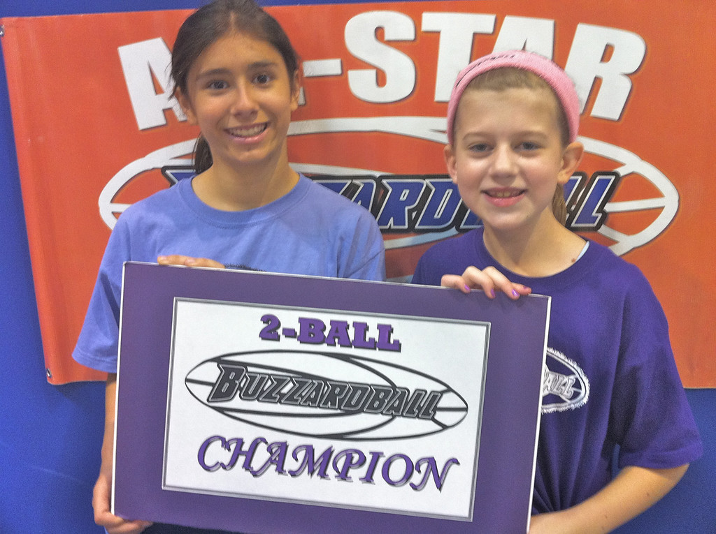 NICOLE FREUND and JULIANNE DOWNING (SUN): 70 points **** A new ALL-GIRLS BUZZARDBALL RECORD
