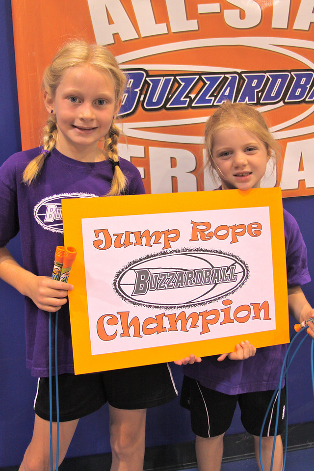 CLIPPERS: Genevieve Hoppe and Zoe Buck combined for 169 jumps to win the 1st-3rd grade division