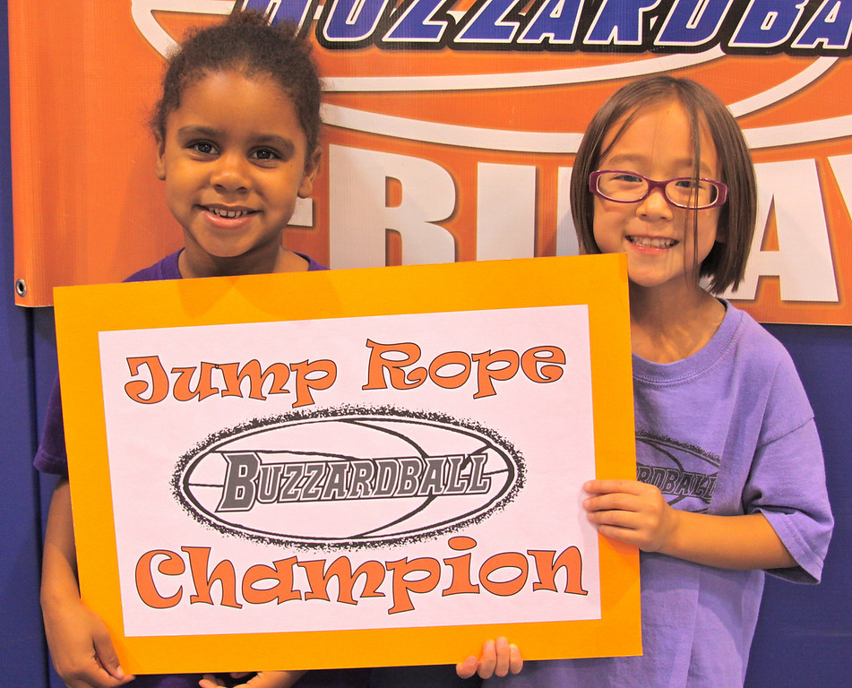 CLIPPERS: Jordyn James and Elyse Chrisman combined for 72 jumps to win the PRE-K through K division