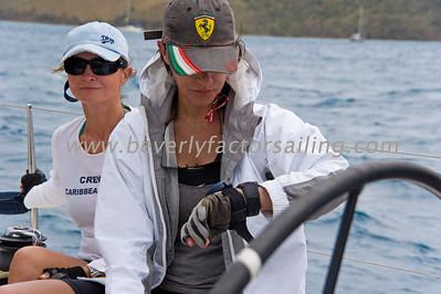 BVI Spring Regatta 2012- Bitter End Race 2-CREW ACTION-Girls for Sail