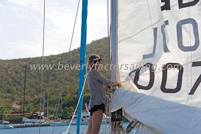 BVI Spring Regatta 2012-Bitter End Race 1- CREW ACTION-Girls for Sail