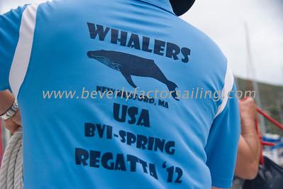 BVI Spring Regatta 2012 Race 1 Whalers CREW ACTION
