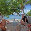 Hugh and Sharon at Cooper Island Beach Club