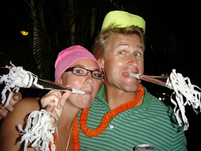 """Melissa and Matt escaping their charter guests for a while - now """"iz eet possibell?"""""""
