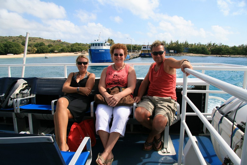 Happy campers on Speedy's Ferry to Road Town, Tortola.