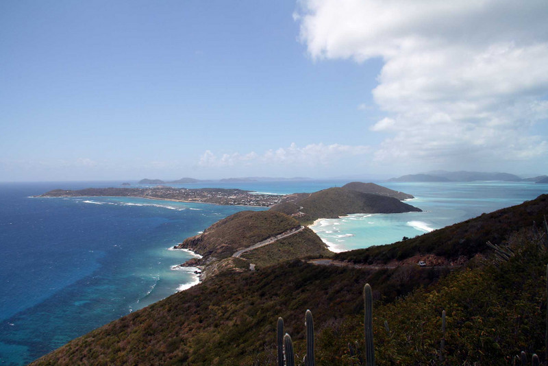 Up Gorda Peak, looking South West along the island chain.