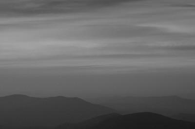 Sonnenuntergang im Bieszcady Nationalpark